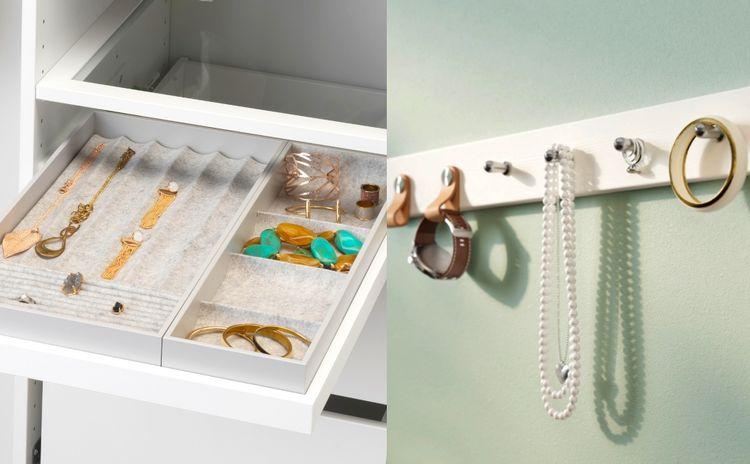 戒指、颈链、耳环如何收纳技巧?为你推介超强首饰收纳盒、收纳架
