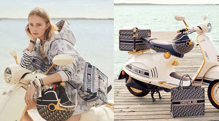 Dior与Vespa伟士牌破天荒合作!没钱买机车也要抢那一顶老花安全帽